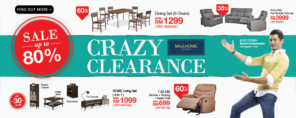 It's MajuHome's Crazy Clearance Sale!